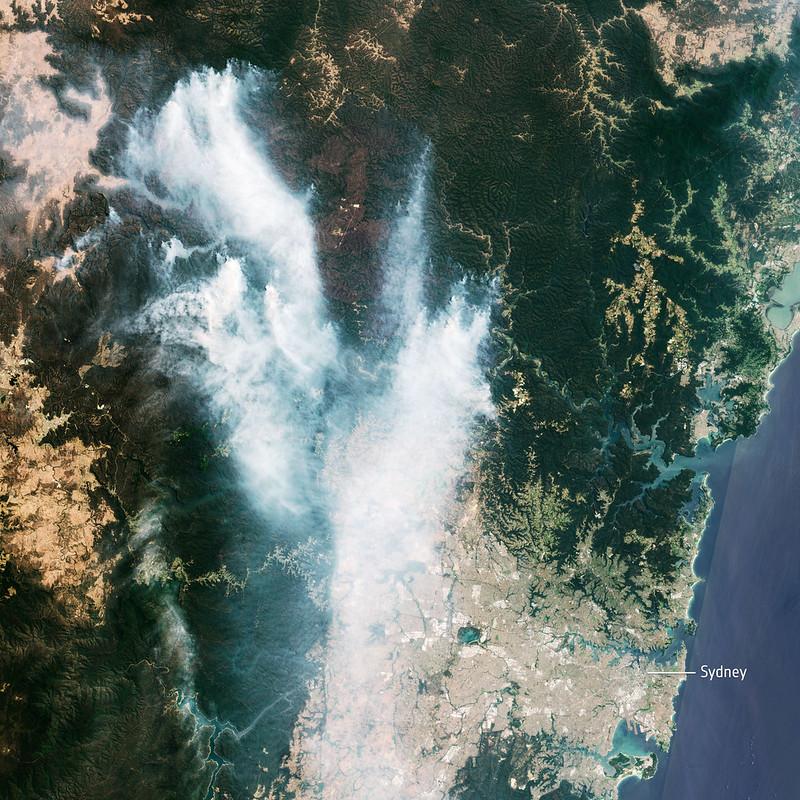 Gospers Mountain Black Summer Fire NSW - European Space Agency